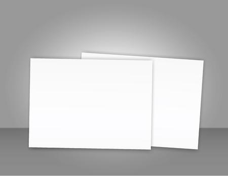 Blank catalogue landscape brochure mockup cover template. Illustration