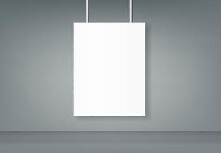 Poster blank bi fold brochure mockup cover template.