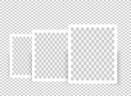 Realistic Blank Photo Frame brochure mock up cover template.