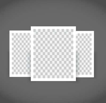 Realistic Blank Photo Frame brochure mockup cover template. Illustration