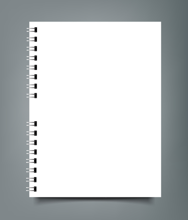 Blank Square notebook calendar mockup cover template.