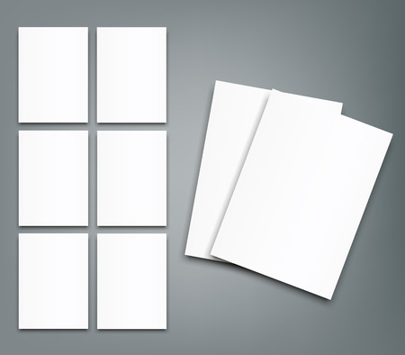 Set of Blank poster bi fold brochure mockup cover template.