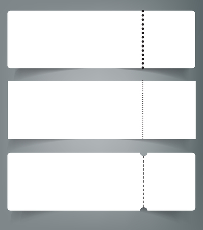 Set Of Blank Event Concert Ticket Mock Up Template Concert, Party ...