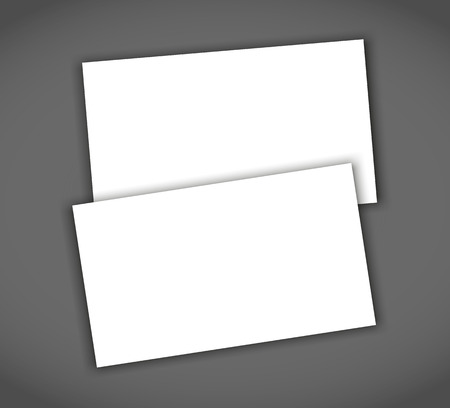 Two business cards with shadow mockup cover template.