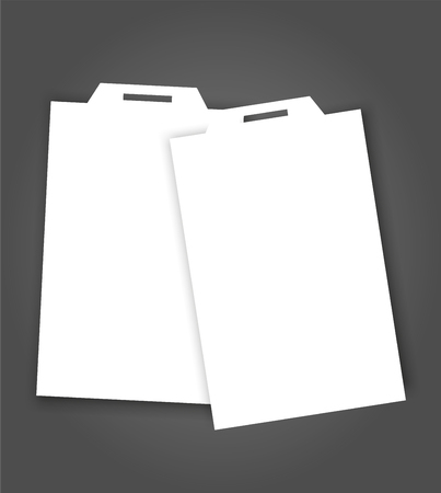 Blank name tags mock-up. Vector illustration of identity card badge mock-up cover template.