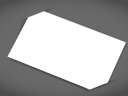 One business card with shadow mockup cover template.