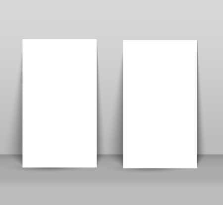 Blank business card with shadow mockup cover template. Ilustrace