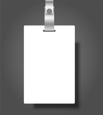 Blank Name Tags Mockup. Vector Illustration of Identity Card Badge mockup cover template Ilustrace