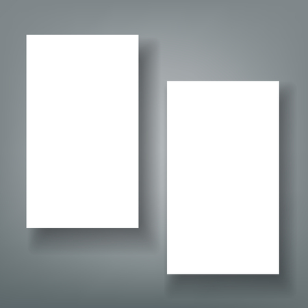 Blank business card with shadow  template Ilustrace