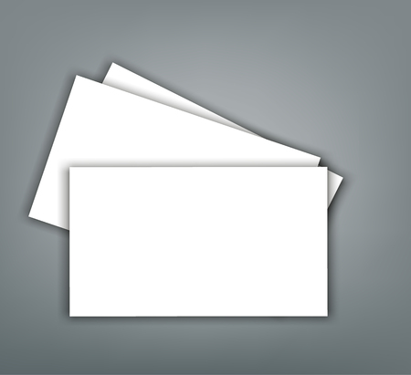 Blank business card with shadow  cover template Ilustrace