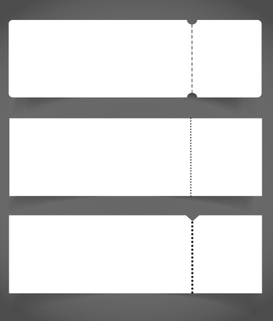Blank Event Concert Ticket Mockup Template. Concert, Party Or ...