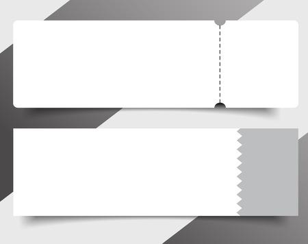 Set of Blank event concert ticket mockup template. Concert, party or festival ticket design template Reklamní fotografie - 97051309