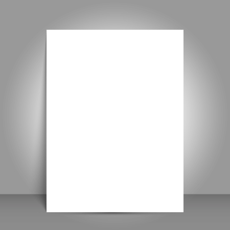 Blank Bi fold brochure mockup cover template. Reklamní fotografie - 97051324