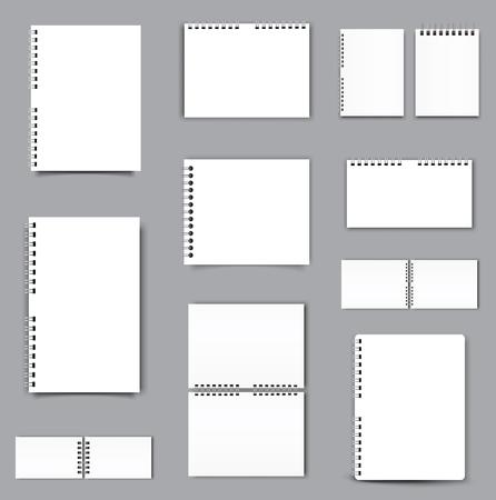 Blank Square notebook calendar mockup cover template. Vector illustration.