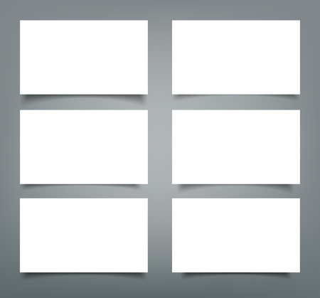 Set of blank business card template.