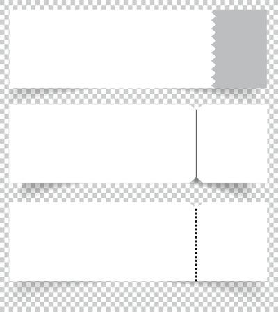 Blank event concert ticket mockup template. Concert, party or festival ticket design template. Vector illustration.