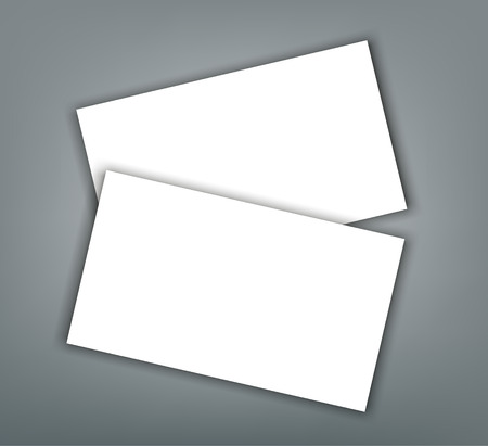 Business card blank with shadow mockup cover template. Reklamní fotografie - 97384713