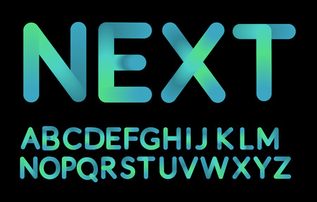 Neon bubble typeset alphabet font. Reklamní fotografie - 97930590