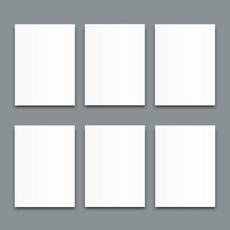 Set of blank poster bi fold brochure mockup cover template. Reklamní fotografie - 97930592