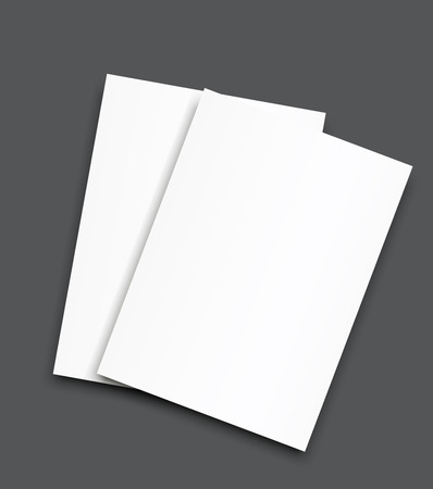 Blank bi fold brochure mockup cover template. Reklamní fotografie - 98083674