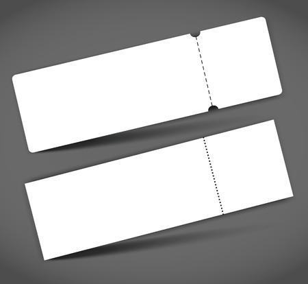 Set of Blank event concert ticket mock-up template.