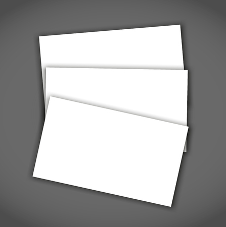 Business card blank with shadow mockup cover template. Ilustrace