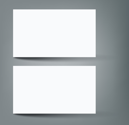 Two business card with shadow mock-up cover template. Reklamní fotografie - 98039091