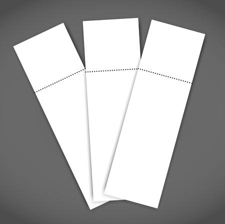 Set of Blank event concert ticket mock-up template. Concert, party or festival ticket design template. Reklamní fotografie - 98039097