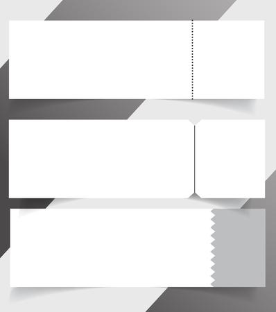 Blank event concert ticket mockup template. Concert, party or festival ticket design template. Reklamní fotografie - 98519349