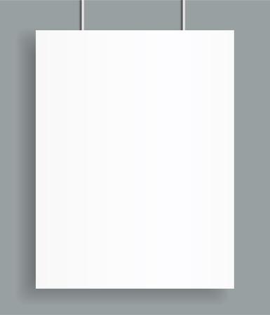 Blank poster bi fold brochure mockup cover template. Ilustrace