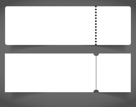 Blank event concert ticket mockup template. Concert, party or festival ticket design template. Reklamní fotografie - 98519350