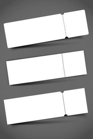 Blank event concert ticket mockup template. Concert, party or festival ticket design template. Reklamní fotografie - 98346031