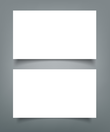 Business card blank with shadow mock up cover template.