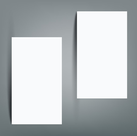 Blank business card with shadow mockup cover template. Reklamní fotografie - 98428626