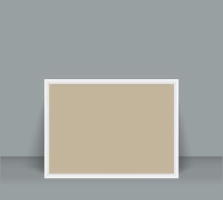 Blank Photo Frame brochure mockup cover template. Vector illustration.