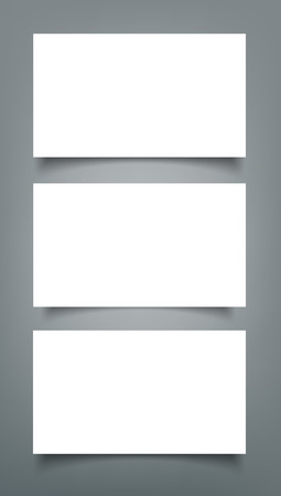 Set of Business card blank with shadow mockup cover template.
