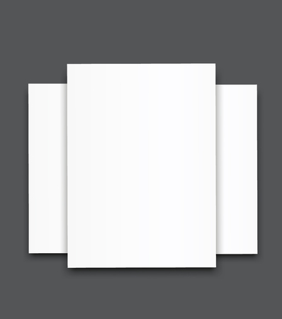Blank poster bi fold brochure mock-up cover template.