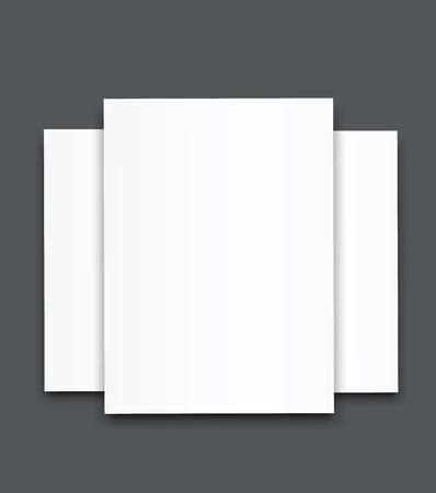 Blank poster bi fold brochure mock-up cover template.
