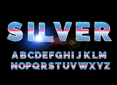 Retro alphabet font. Sci-fi future style. Vector typeface for flyers, headlines, posters etc Reklamní fotografie - 99029833