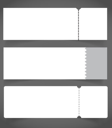Blank event concert ticket mock-up template. Concert, party or festival ticket design template. Ilustrace