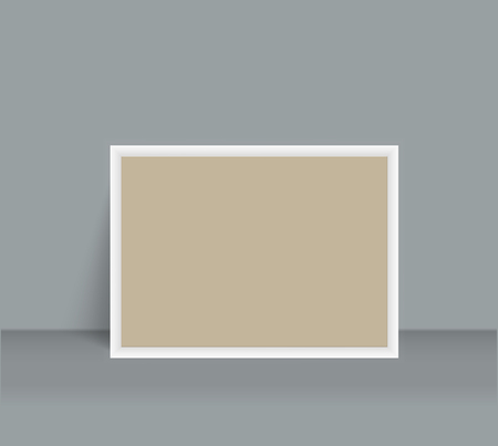 Realistic Blank Photo Frame brochure mockup cover template. Ilustrace