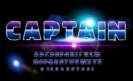 Retro alphabet font. Sci-fi future style. Vector typeface for flyers, headlines, posters.
