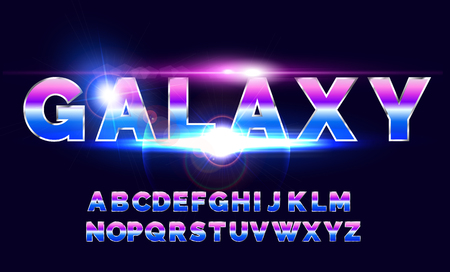 80s retro alphabet font. Sci-fi future style. Vector typeface for flyers, headlines, posters etc
