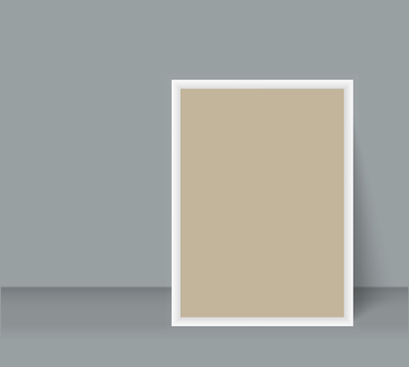 Realistic Blank Photo Frame brochure mockup cover template. Vector illustration.