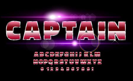 80's retro alphabet font. Sci-fi future style. Vector typeface for flyers, headlines, posters etc Reklamní fotografie - 100393156