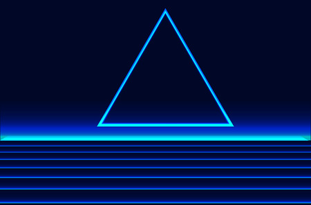 Future retro line background of the 80s. Vector futuristic synth retro wave illustration in 1980s posters style Reklamní fotografie - 100666427