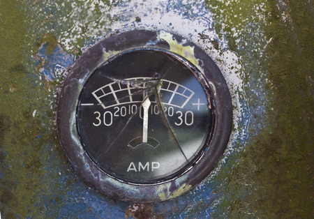 amp: old amp gauge Stock Photo