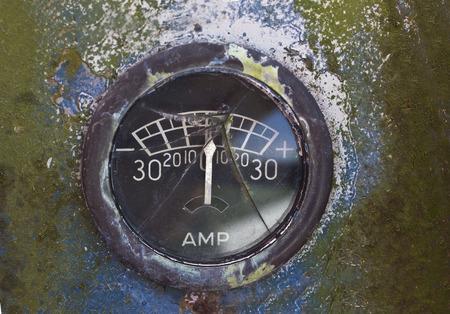 old amp gauge Banco de Imagens