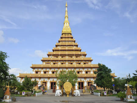 relics: Thai Temple with Buddha relics Editorial
