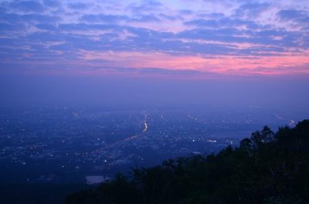 Scenic sunrise at Doi Suthep Stock Photo - 17237237